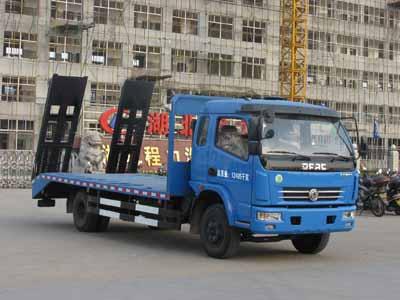 东风蓝色多利卡平板运输车
