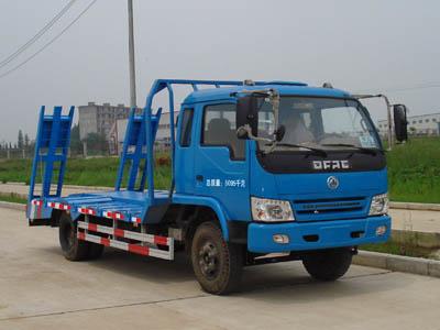 东风旧款蓝色多利卡平板运输车