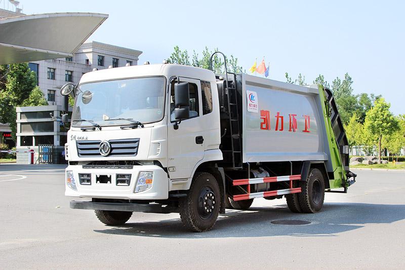 东风专底压缩式垃圾车(带翻转盘)